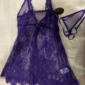 Purple Sexy Lingerie with G String